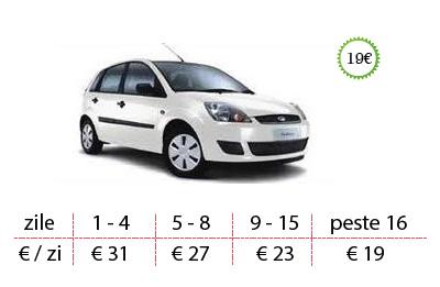 Inchirieri auto Ford Fiesta de la 19 €/zi