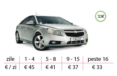 west rent a car lugoj masini chevrolet cruze