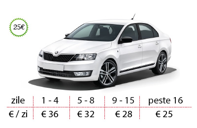 Inchirieri auto Vw Golf de la 28 €/zi