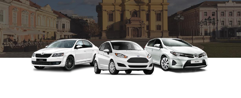 Inchirieri auto Timisoara centru, complex, sag, iulius mall, shopping city