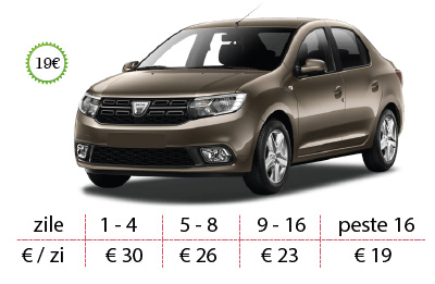 inchirieri auto timisoara dacia logan 2018